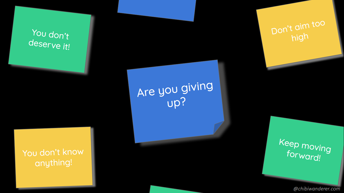 sticky notes - are you giving up?
