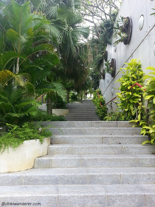 Stairs in Gardens by the Bay Singapore