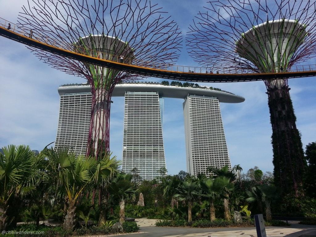 Marina Bay Sands via Supertree Grove, Singapore