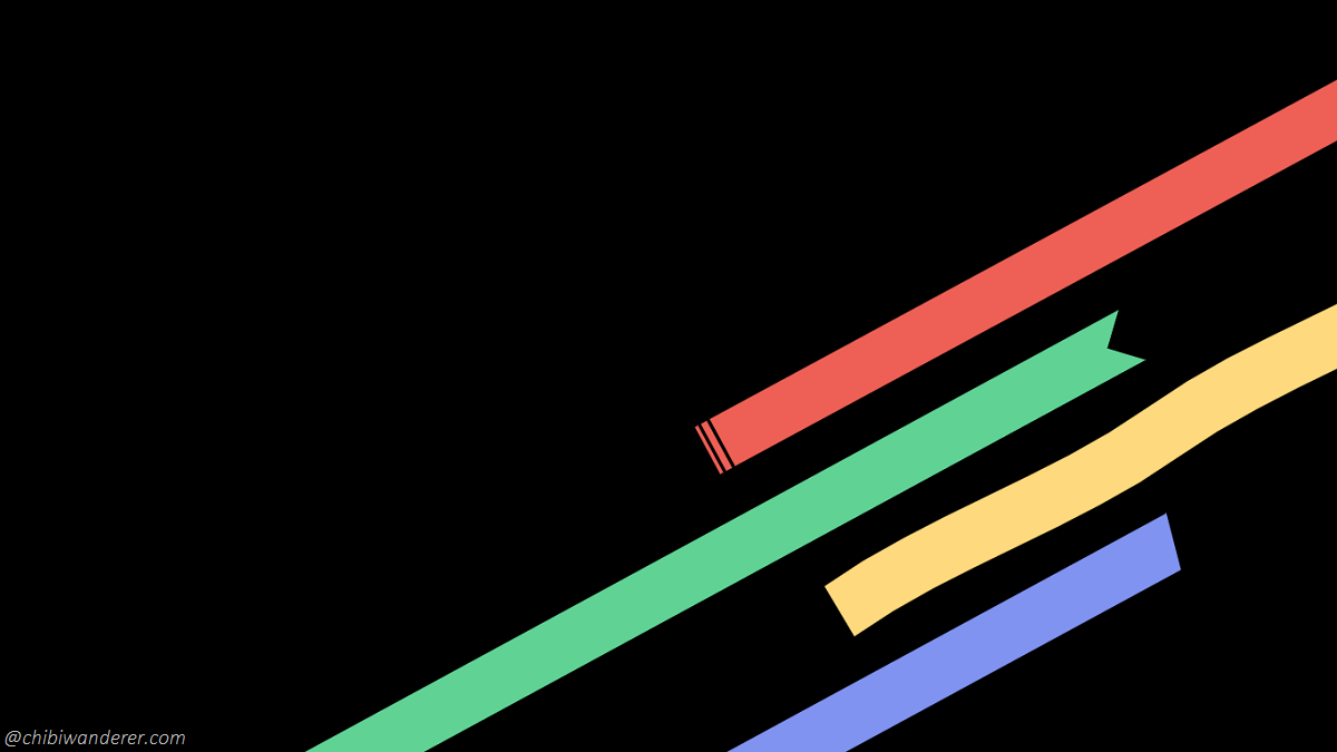 Stripes with pastel colors on top of black background