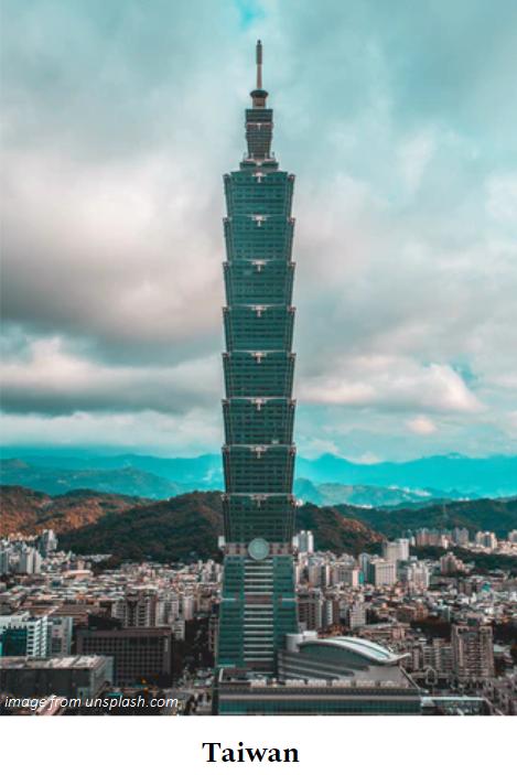 Taipei 101 (Taiwan) from unsplash.com