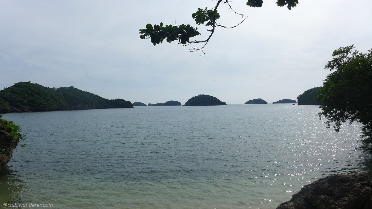 Hundred Island view from Marcos Island Philippines
