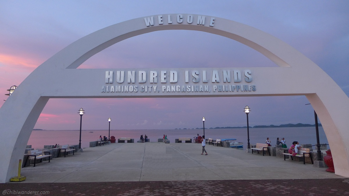 Welcome arch of Hundred Island in Alaminos City Pangasinan Philippines